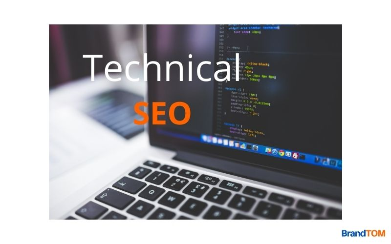 Codes are Seen on the Laptop Screen to Mean Technical SEO